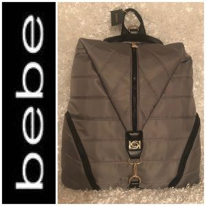 "bebe ""Amma"" Backpack Grey"